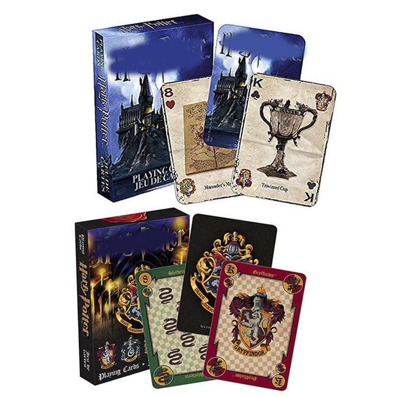 Harri Playing Game Cards Hgwarted House Potters Collection Badges Symbols Castle Crests 2 Patterns English Logo Magic Kid Toy