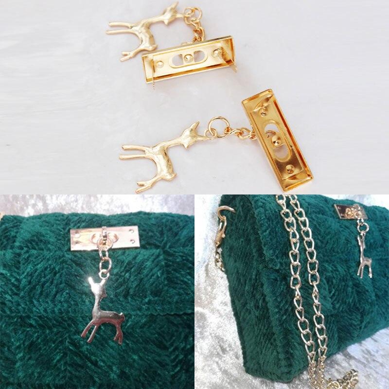 Deer Metal Bag Pendant Decoration DIY Craft Handbag Craft Messenger Shoulder Bag Hardware Bag Accessories