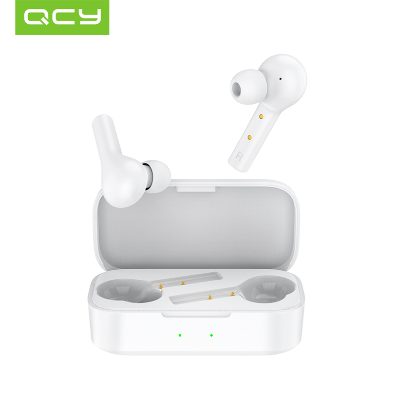 QCY T5 Bluetooth Earphones V5 0 Wireless Headphones Touch Control Stereo HD talking with 380mAh battery charging box