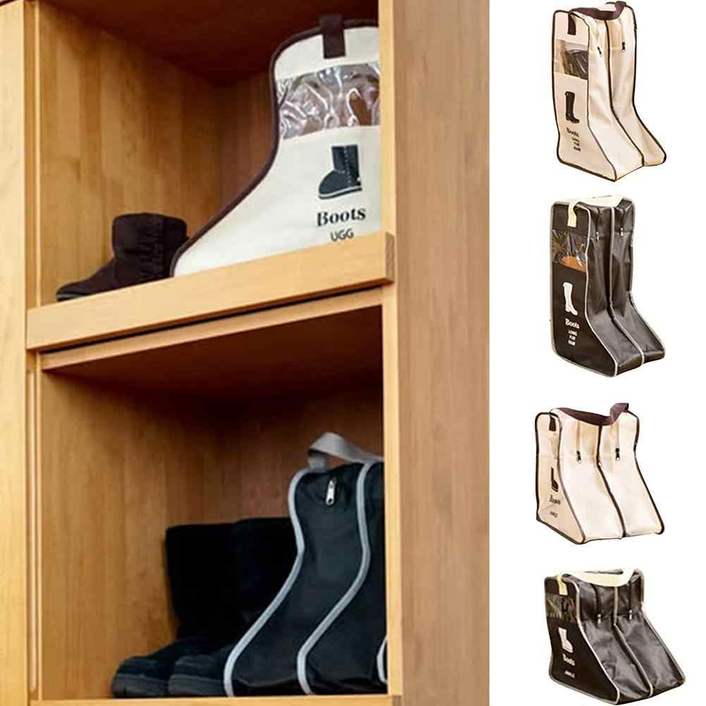 AUGKUN дорожная сумка для обуви домашний пыленепроницаемый мешок для хранения обуви ботинки Видимый пыленепроницаемый Органайзер перспективный дизайн окна