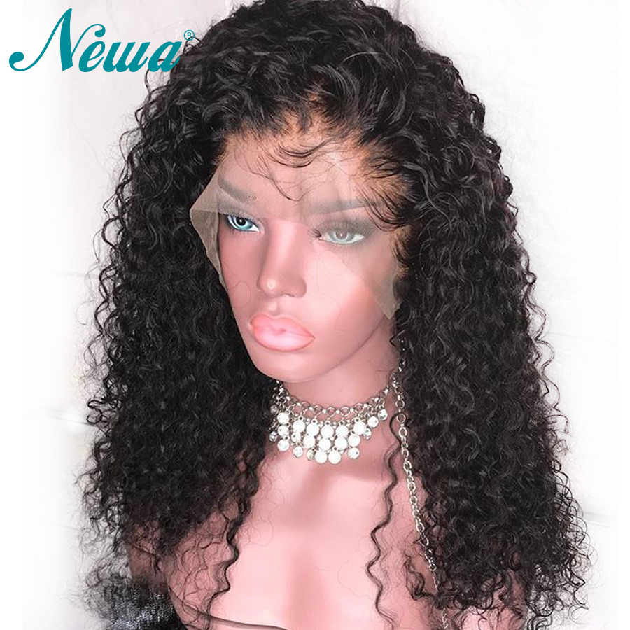 Newa Hair 360 Lace Frontal Wig With Baby Hair Brazilian Remy Hair Curly Lace Frontal Human Hair Wigs Pre Plucked For Black Women-in Human Hair Lace Wigs from Hair Extensions & Wigs    1