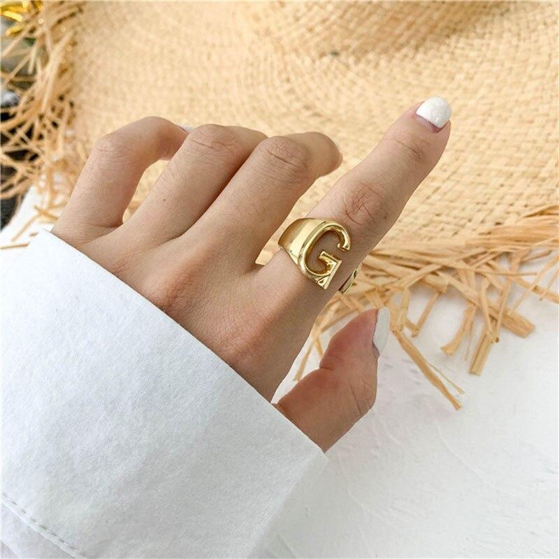 A-Z Letter Ring