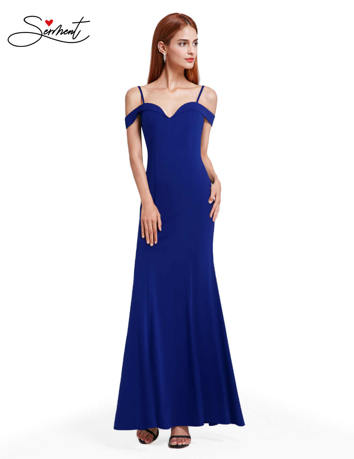 OLLYMURS Elegant Woman Evening Gown One-shoulder Strapless Shoulder Bag Hip Fishtail Evening Dress Suitable For Formal Parties