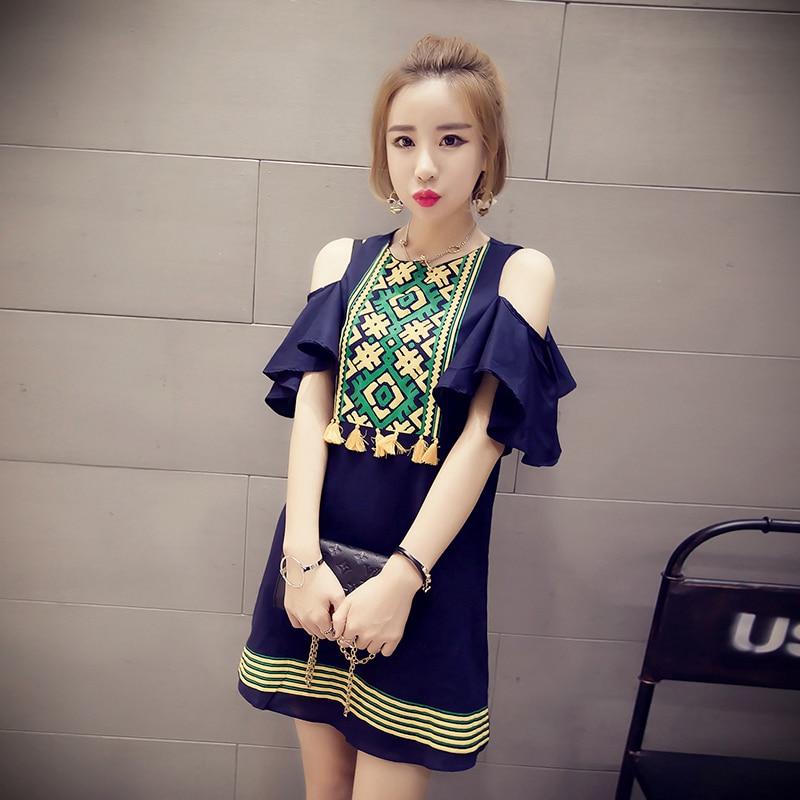 2019 Summer New Butterfly Sleeve Cotton Linen Long T-shirt Fashion - Women's Clothing