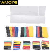 312pcs/set 2:1 Assorted Polyolefin Heat shrinkable tube Wire Cable Insulated Sleeving Tubing Set mixcolor mixsize Shrink Tube