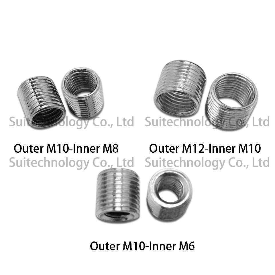 Image 3 - 5pcs internal and external teeth adapter screw M14 M12 M10 M8 M6  wire opening conversion screw M10*1 external teeth For DIY-in Lamp Tooth Tube from Lights & Lighting