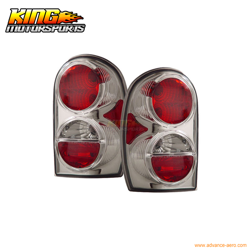Fit For 02-07 Jeep Liberty Tail Lights Chrome 2003 04 05 2006 USA Domestic Free Shipping