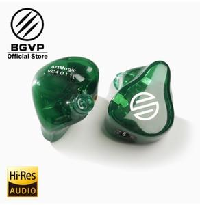 Image 4 - BGVP HIFI ArtMagic VG4 4 armaduras equilibradas personalizables en monitores de oído interfaz MMCX con Kabel HIFI Auriculares