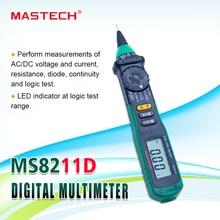 MasTech MS8211D Pen type digitale multimeter Auto Range DMM Multitester Spanning Stroom Tester Logic Level Tester