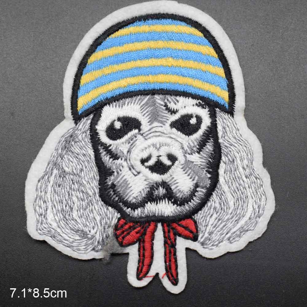 Пятнистая собака полная вышивка Железная на вышитой одежде нашивки для одежды наклейки одежды торговля - Цвет: maozi hudiejie gou