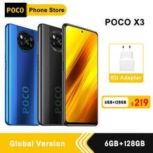 Xiaomi-teléfono inteligente POCO X3, versión Global, 6GB y 128GB, Snapdragon 732G, ocho núcleos, cámara cuádruple de 64MP, 6,67