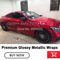 Premium Gloss Metallic Red Vinyl Car Wrap Styling Glossy with Air Free full car Covering foil Classic dark red