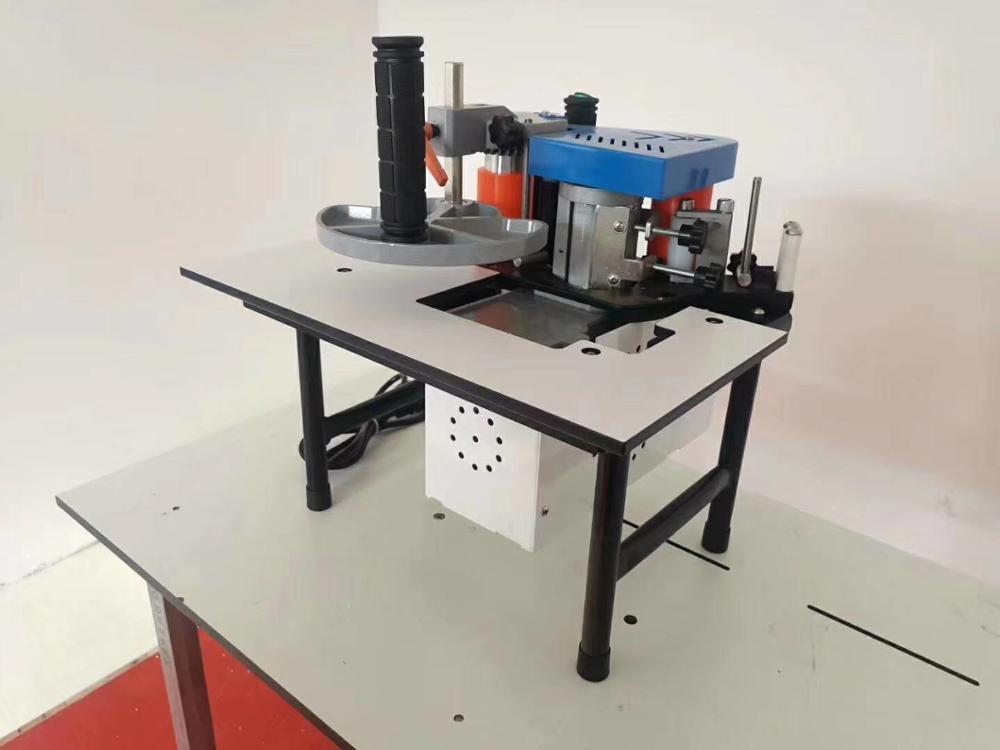 Woodworking Edge Banding Machine No Speed Regulation Mini Manual Wood Cutting Pvc Curved Straight Edge Machine Manual Break