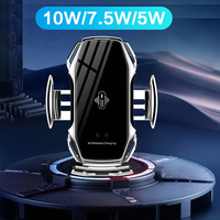 10W Qi Wireless Car Charger Fast Wireless Charge for iPhone 11 Pro XS XR Samsung S10 Intelligent Infrared Car Phone Holder|Wireless Chargers| |  -