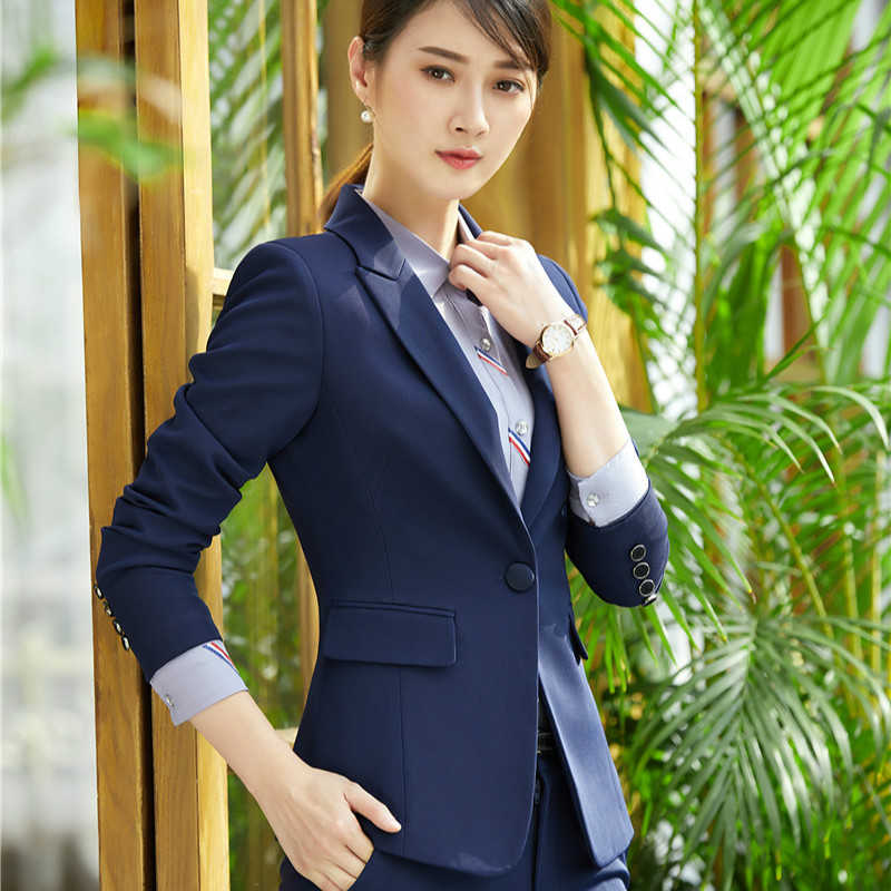 Women Blazers and Jackets Elegant Office Ladies Uniforms Ladies Business Clothes OL Style