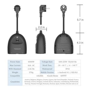 Image 2 - Tessan Eu Elektrische Stopcontact Smart Power Strip Met 2 Ac Outlets Aan/Uit Schakelaar, 110 250V Ourdoor Charger Adapter