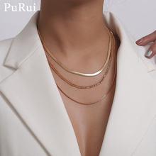 Женское колье чокер purui многослойное ожерелье золотистого