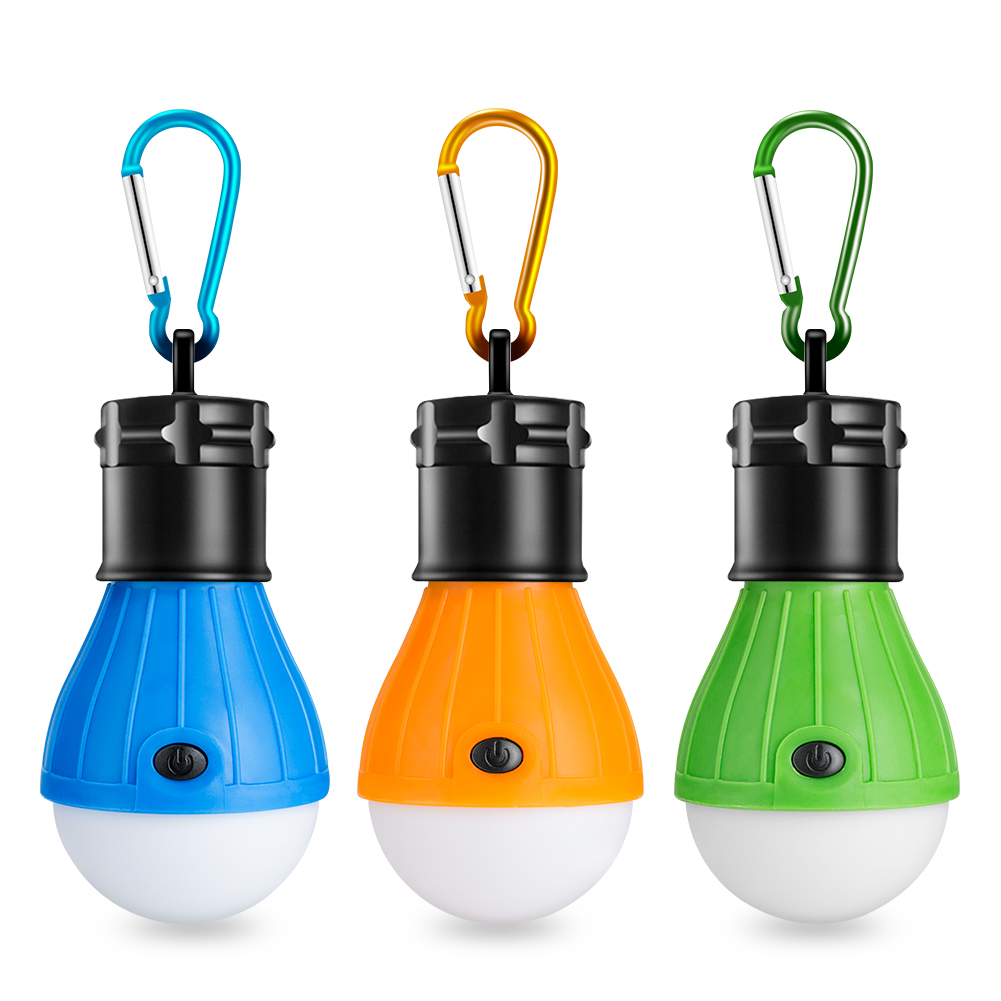 Portable Handy LED Bulb Light 3 Mode Hook Tent Lamp Outdoor Soft Emergency Tent Light Energy Saving For Camping Hunting Lighting