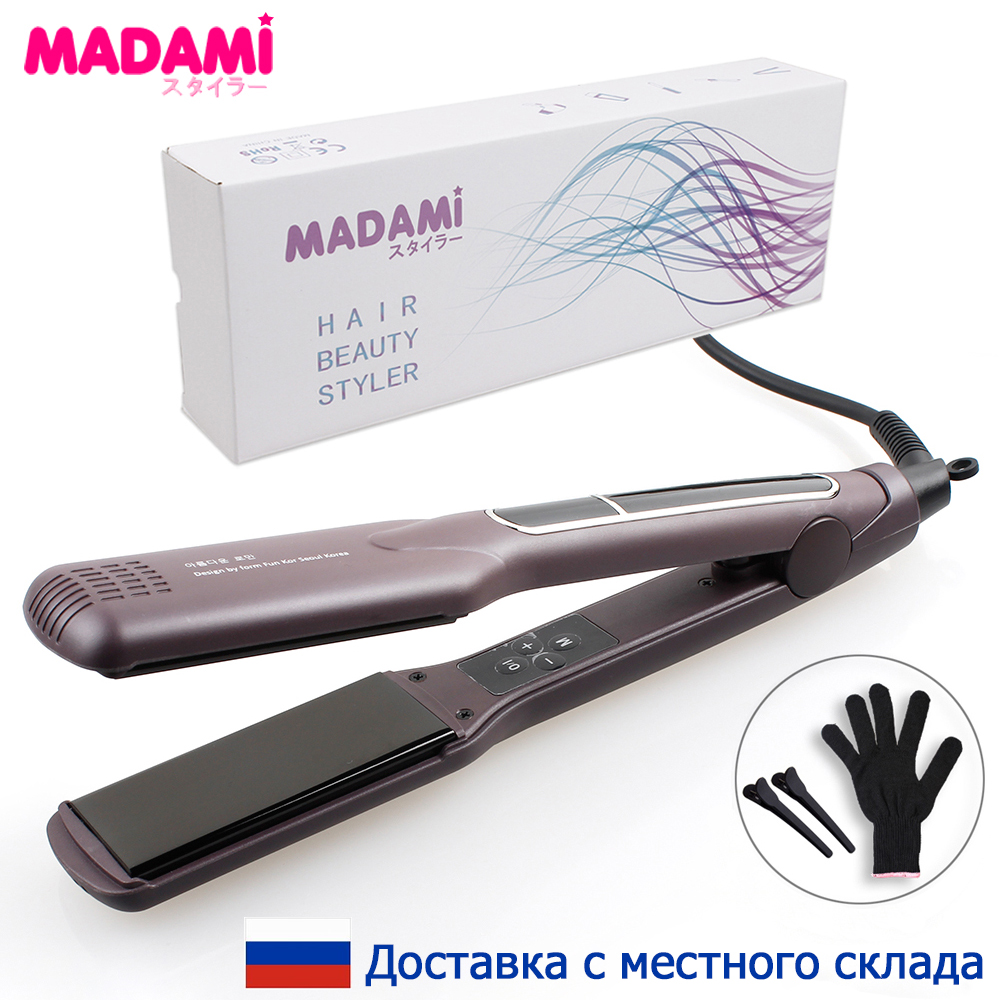 Korean Hair Straightener Wide Plate Ceramic Hair Curling Iron 1 1/2 inch Dual Voltage Bivolt Chapinha 3D Floating Styling Tools