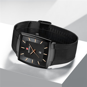 Image 3 - New Fashion Square Men Wristwatch Ultra thin Luminous Date Men WristWatch Top Brand Luxury Waterproof Male Watch Dropshipping