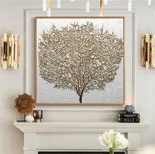 Dekorative Leinwand Drucken Abstrakte Gold Baum Musterung Zauberstab Kunst Gemälde Poster Dekorative Gemälde Wohnzimmer Hause Zauberstab Drucke