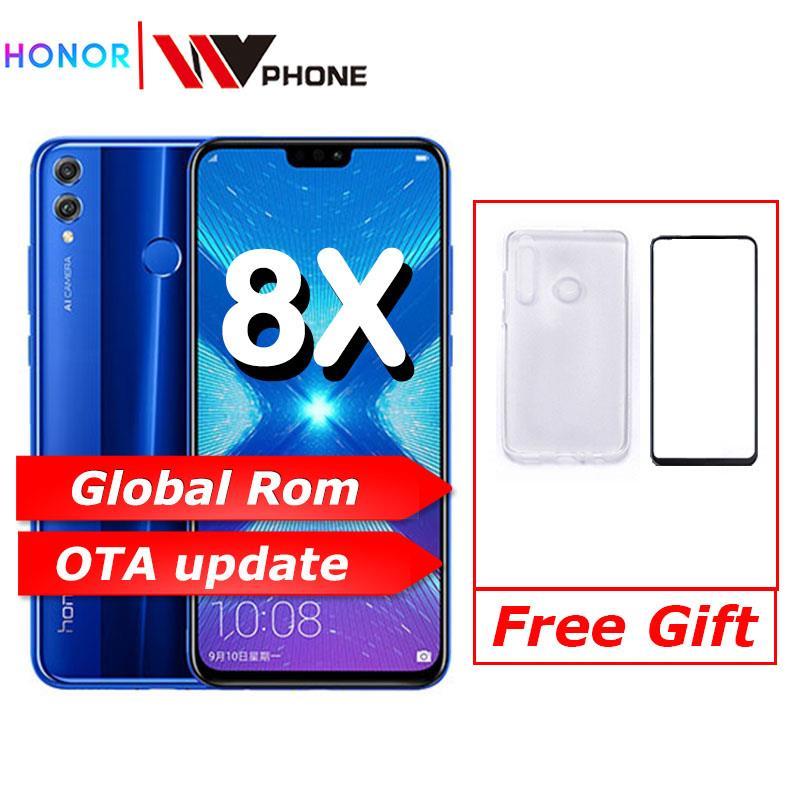 Купить Глобальный Rom Huawe Honor 8X6,5 ''полный экран OTA обновление смартфона не 8x max мобильный телефон Android 8,1 Восьмиядерный отпечаток пальца ID на Алиэкспресс
