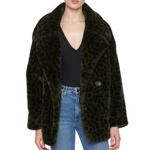 CP Faux Rabbit Fur Coat Women Fshion Leopard Printed Fur Jacket Women Casual Turn Down Collar Fur Jacket Female Ladies CP220(China)