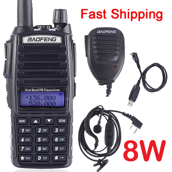 BaoFeng UV-82 walkie-talkie dwuzakresowy 136-174 400-520 MHz Radio dwukierunkowe FM Vhf Uhf Transceiver myśliwski walkie-talkie UV82 tanie i dobre opinie 2800mAh CN (pochodzenie) IP55 Przenośne 5 km-10 km 5 w-10 w UV-82 8W 136-174MHZ and 400-520MHZ (TX RX) 132 x 60 x 35 mm (not included antenna)