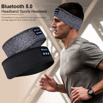 Wireless Bluetooth Sleeping Headphones Sports Headband Soft Elastic Comfortable Music Headset Speakers Hands-free For Running 1