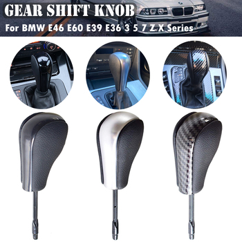 Car stick Vehicles Gear Shift Knob Fit For BMW E81 E82 E87 E90 E91 E92 E93 E36 E38 E39 E46 Z4 Z3 E53 X5 X3 E6 image