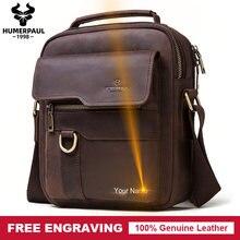 Casual Men Shoulder Bag Leather Messenger Bag Male Capacity