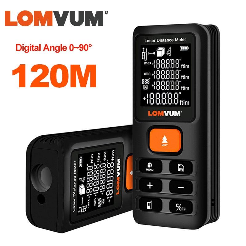 LOMVUM 40m 120 м трена рулетка лазерной линейкой дальномеры цифровой лазерный дальномер измеритель лазер Metreler 100 м