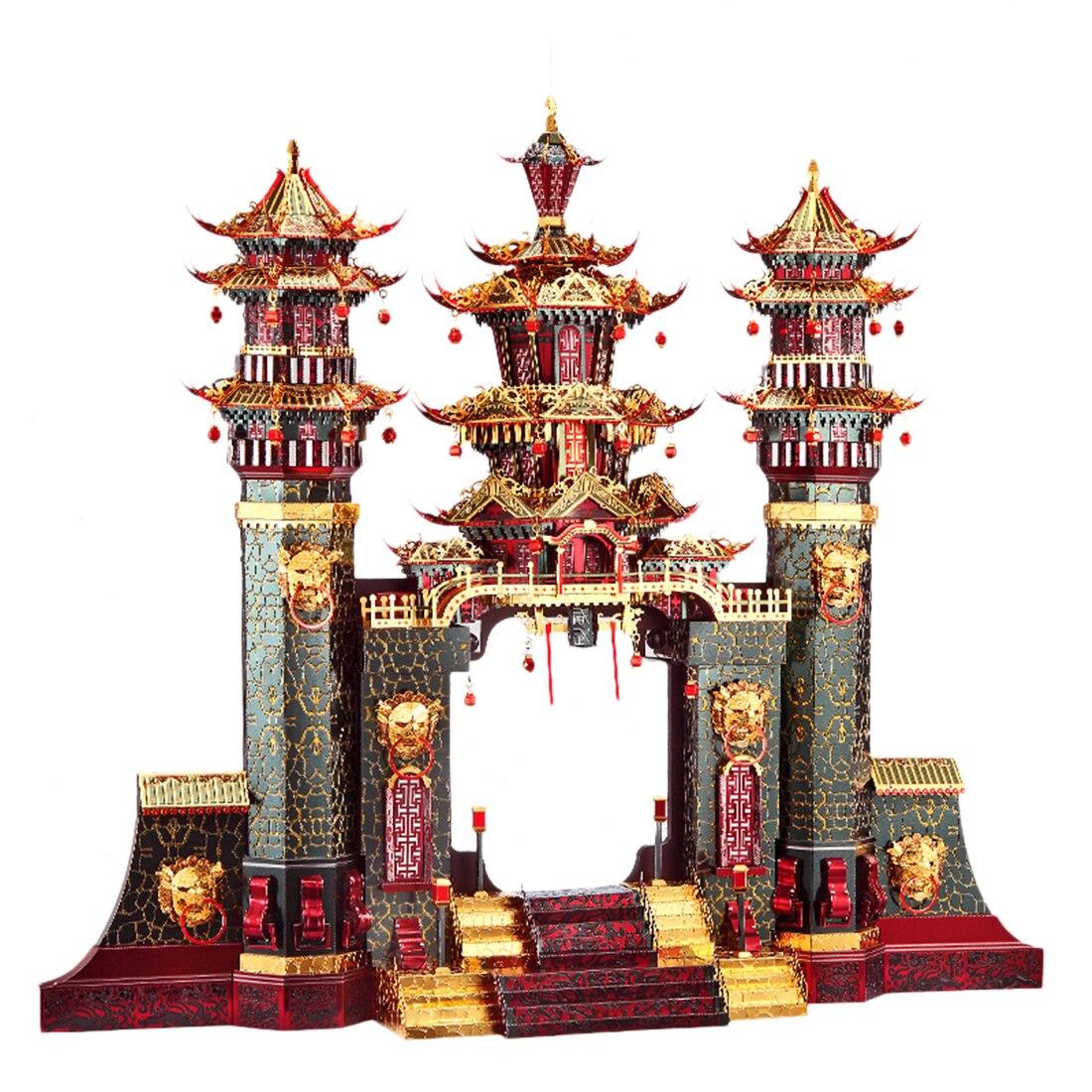 Архитектурная серия Южные ворота , модель, наборы, сделай сам, 3D металлические пазлы, сборная головоломка, игрушка, модель, обучающая игрушка, подарок для детей и взрослых