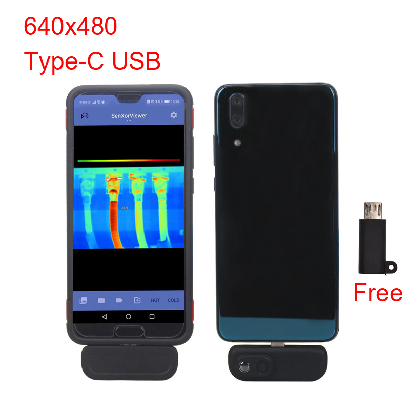 WG201 Cell Phone Thermal Imaging Cameras Android Smart Phone APP 640x480 Resolution Thermal Imager Cameras