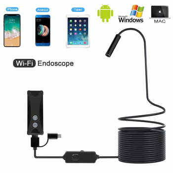 WIFI Endoscope Camera HD 1200P 8mm Mini Waterproof Hard Wire Wireless 8mm 8 LED Borescope Camera For Android PC IOS Endoscope - DISCOUNT ITEM  65% OFF All Category
