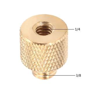 New 3/8 Inch To 1/4 Inch Tripod Thread Reducer Adapter Brass Copper DXAC