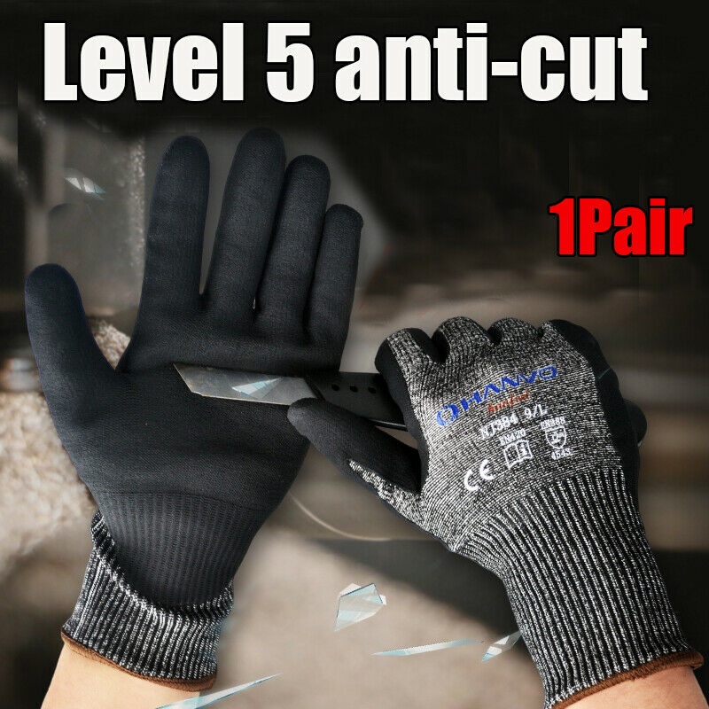 Cut Resistant Work Gloves Nitrile Level 5 Protection Safety Gloves For Industry