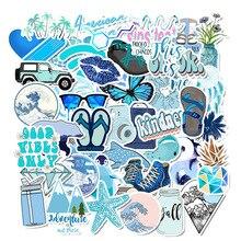 50 шт синий мультфильм животных граффити компьютер стикер s водонепроницаемый багаж холодильник наклейки для MacBook/hp ноутбук стикер