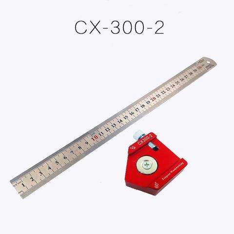 Liga de Alumínio Ferramenta de Marcação Dishykooker Escala Medida Scribing Régua Carpintaria T-tipo Buraco Ferramentas Manuais Conjunto Cx300-2 300mm