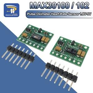 Image 1 - Low Power MAX30102 Heart Rate Pulse Breakout Board For Arduino / Blood Oxygen Sensor Module MAX30100 Pulse Oximeter