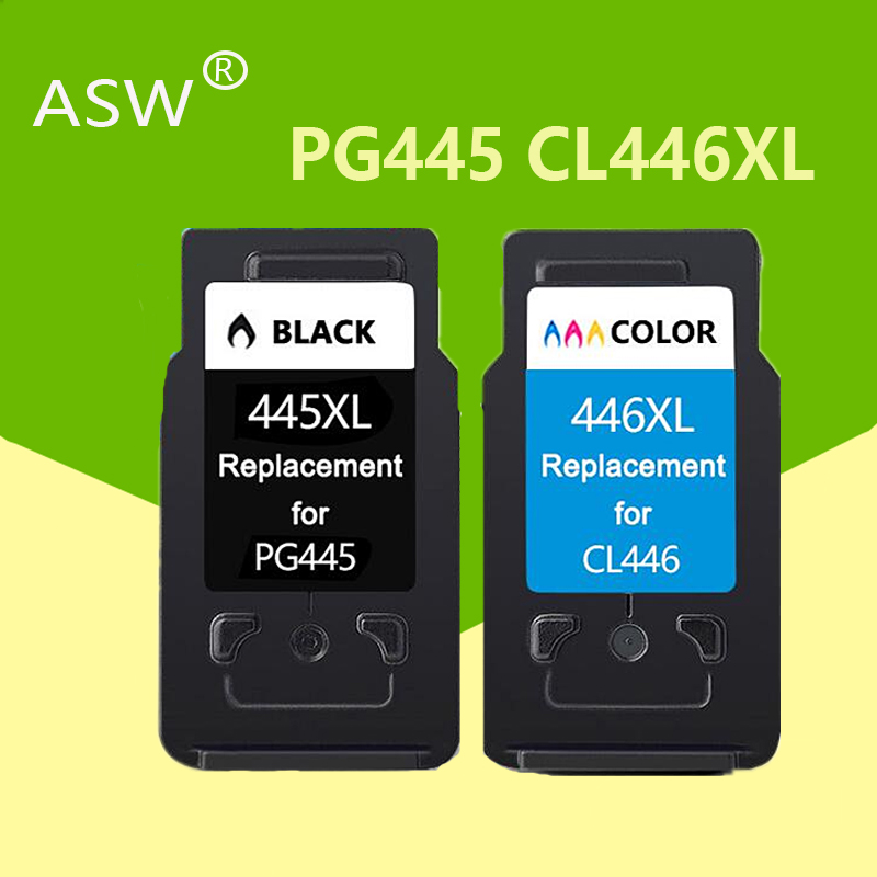 ASW PG 445 PG445XL Pg445 PG-445 CL-446 CL 446xl Ink Cartridge For Canon PIXMA MG 2440 2540 2940 MX494 IP2840