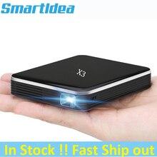 Smartldea DLP Mini cep projektörü ile şarj edilebilir pil, 200ansi HD cep akıllı projektör telefonu kablolu senkron ekran