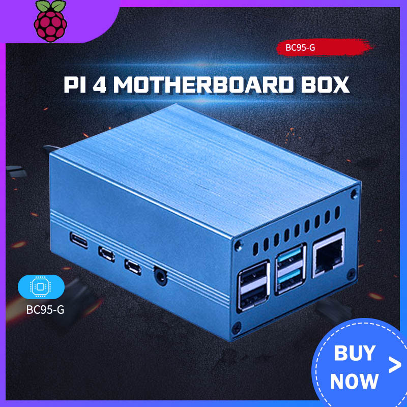 New Raspberry Pi 4B Metal Shell Raspberry Pi 4 Motherboard Box Aluminum Alloy Protective Shell With Cooling Accessories