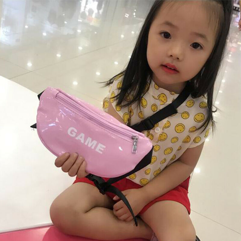 Toddler Baby Girls Boys Kids Fashion Waterproof PU Leather Waist Bag Casual Sports Pouch Belt Hip Chest Travel Purse