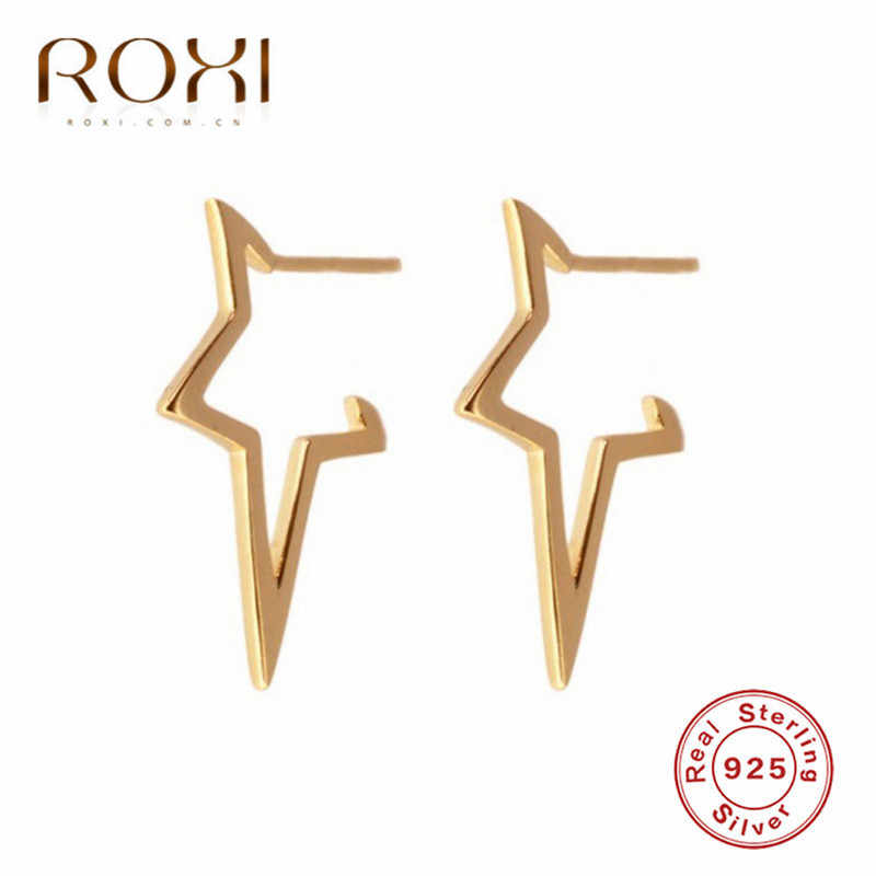 Roxi 925 Sterling Zilveren Oorbellen Sieraden Mode Grote Ster Stud Oorbellen Voor Vrouwen Meisjes Gift Punk Stijl Persoonlijkheid Oorbellen