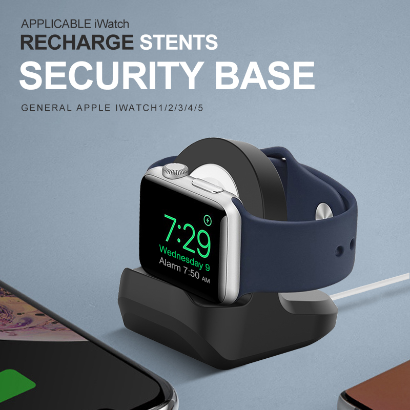 Charger+Stand Silicone Wireless Charger Stand Holder Station Dock for Apple Watch Series 2/3/4/5/SE/6 42mm 38mm iwatch charging