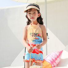 2019 New Style Hot Sales KID'S Swimwear Halter Backless INS Wind Flamingo One-piece Boxer Small CHILDREN'S GIRL'S Swimsuit(China)