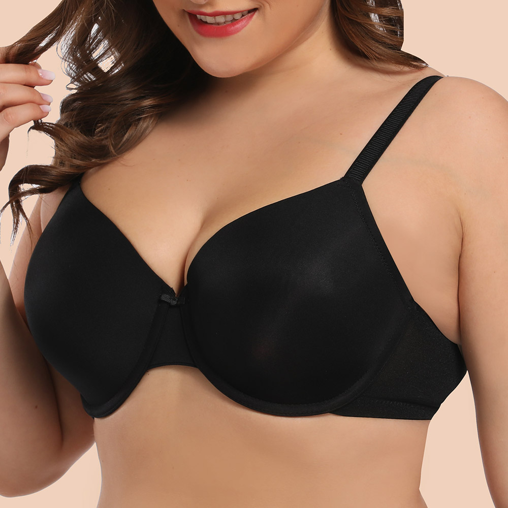 Womens Plus Size Enormous Bra Sexy Bralette Lager Full Cup Light Padded Underwire Support Tops Lingerie B C D DD E F G H I J Cup 2