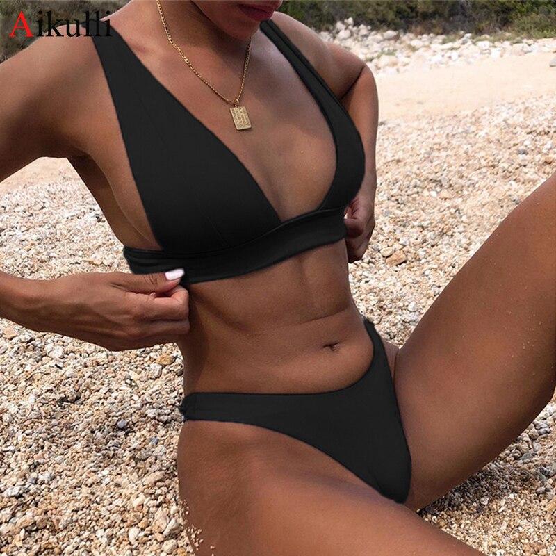 2021 nova sexy sólido biquíni maiô feminino biquinis definir push up brasileiro banho feminino verão beach wear fatos de banho