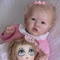 22 Inches Saskia Series Oaklynn Reborn Baby Doll Girl Doll Costume Accessories Set Silicone Vinyl/Cloth Body (Cloth is Random)